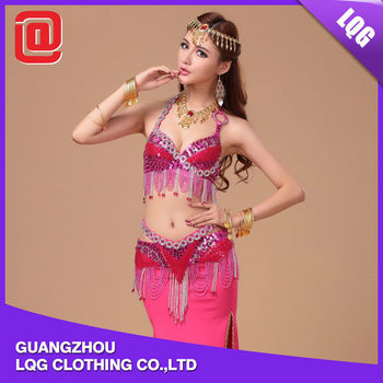 29050142d578 New style sequins beaded afghan belly dance stage dance without dress isis