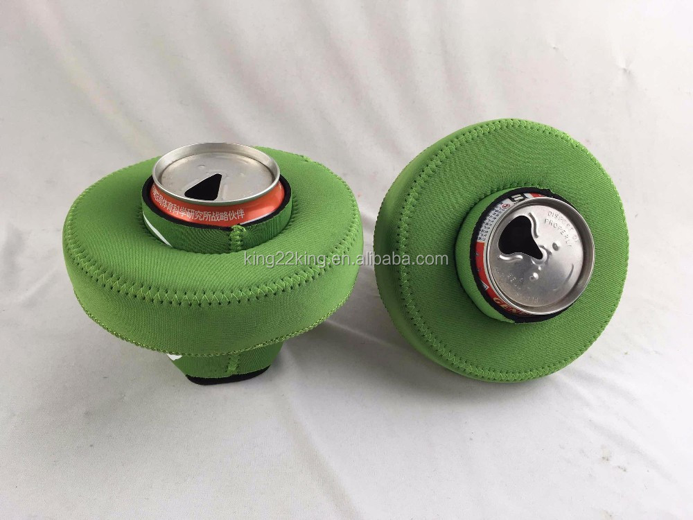 Promotional floating neoprene beer can holder for 330ml can cooler in water