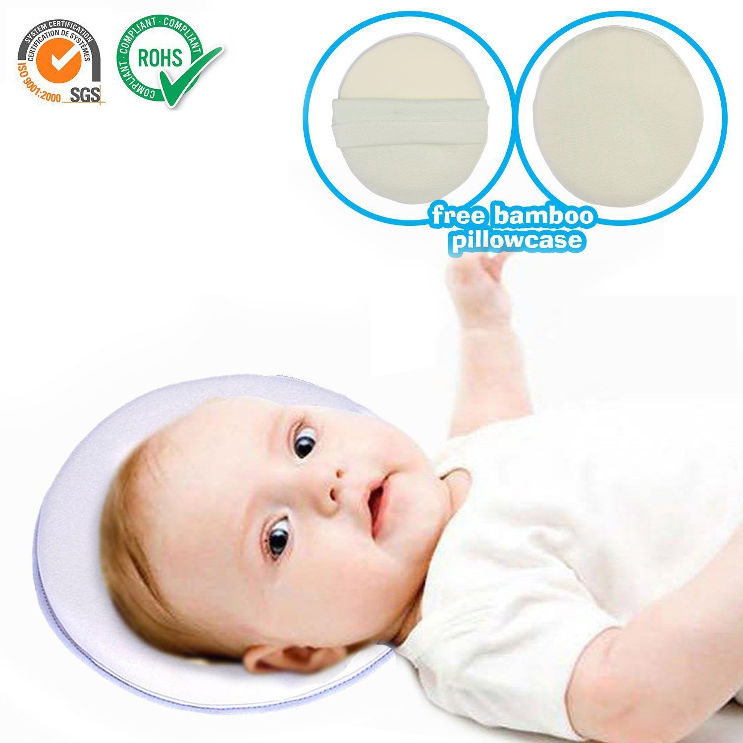 Buy Dimensions L39il Tots Welcome Baby Pillow Fleece Felt Mimos 86 Head Shaping Neck Support To Prevent Flat For Newborn 4 Months Infant Premium Safe Machine Washable Cotton Cloth White