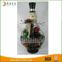 decorative metal snowman christmas ornaments