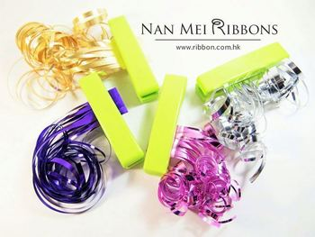 green small hand operated poly curly ribbon tissue plastic shredder