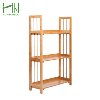 Multipurpose Modern Decorative Collection Home Furniture 6 Tier Bamboo Bookshelf