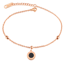 Marlary Summer Jewelry Fancy Ladies Stainless Steel With Zircon 18K Gold Anklet Feet Wholesale