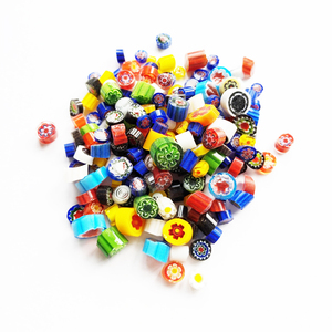 factory price wholesale colorful millefiori beads for diy glass jewelry