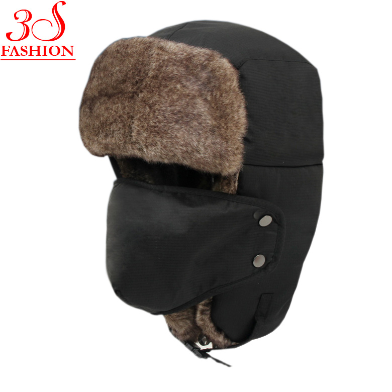 b1ae4c79 Buy Hot Sale Bomber Hats Ushanka Russian Hat Fur Winter Hats sports snow  outdoor aviator ear flaps cap for men&women Hats001 in Cheap Price on  ...