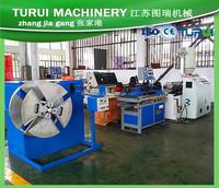 High speed 25M/min single wall PP PE PA EVA plastic corrugated pipe making machine