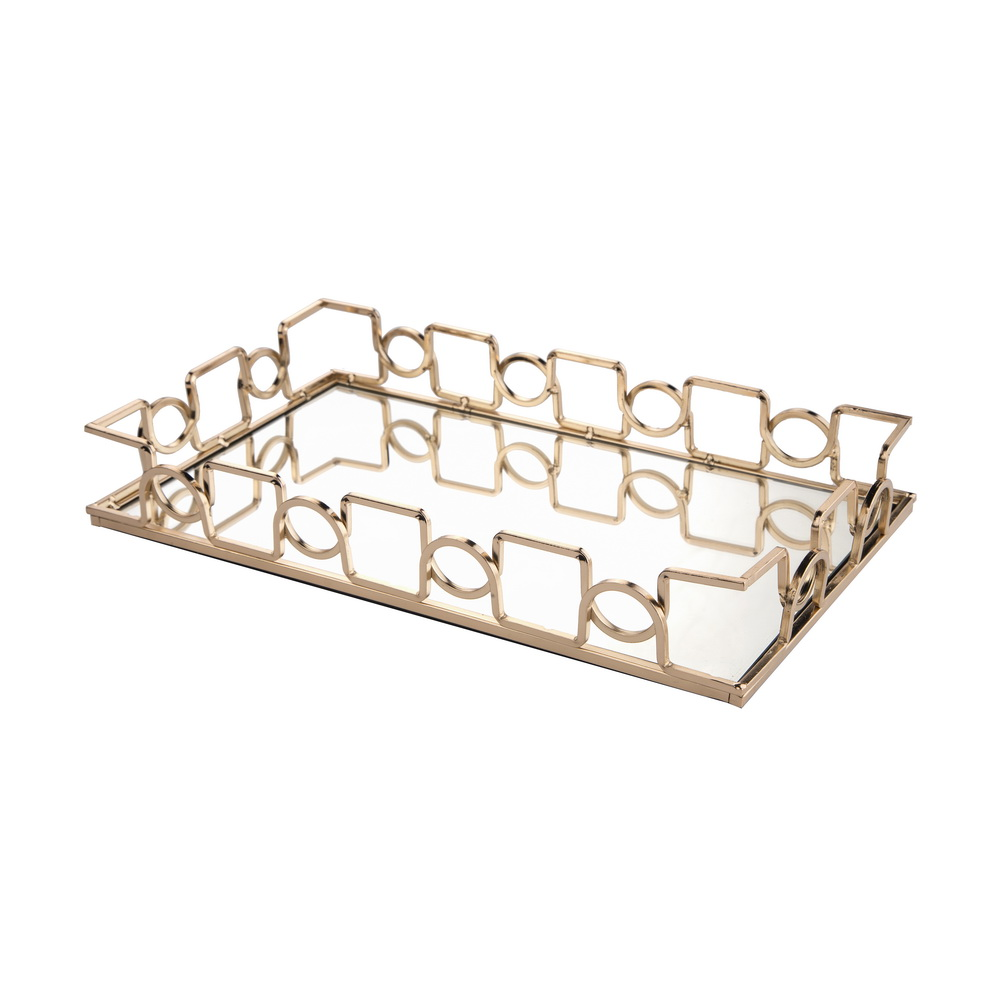 tray decorative mirrored beads organizer silver amazon vanity feyarl crystal home co jewelry dp uk kitchen cosmetic