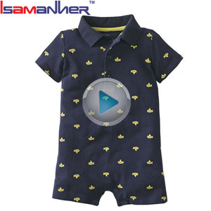 Fashion summer 0-24 months newborn romper baby boy clothes
