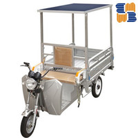 Mainbon 500W solar panel electric tricycle passenger tricycles for Bangladesh and india market