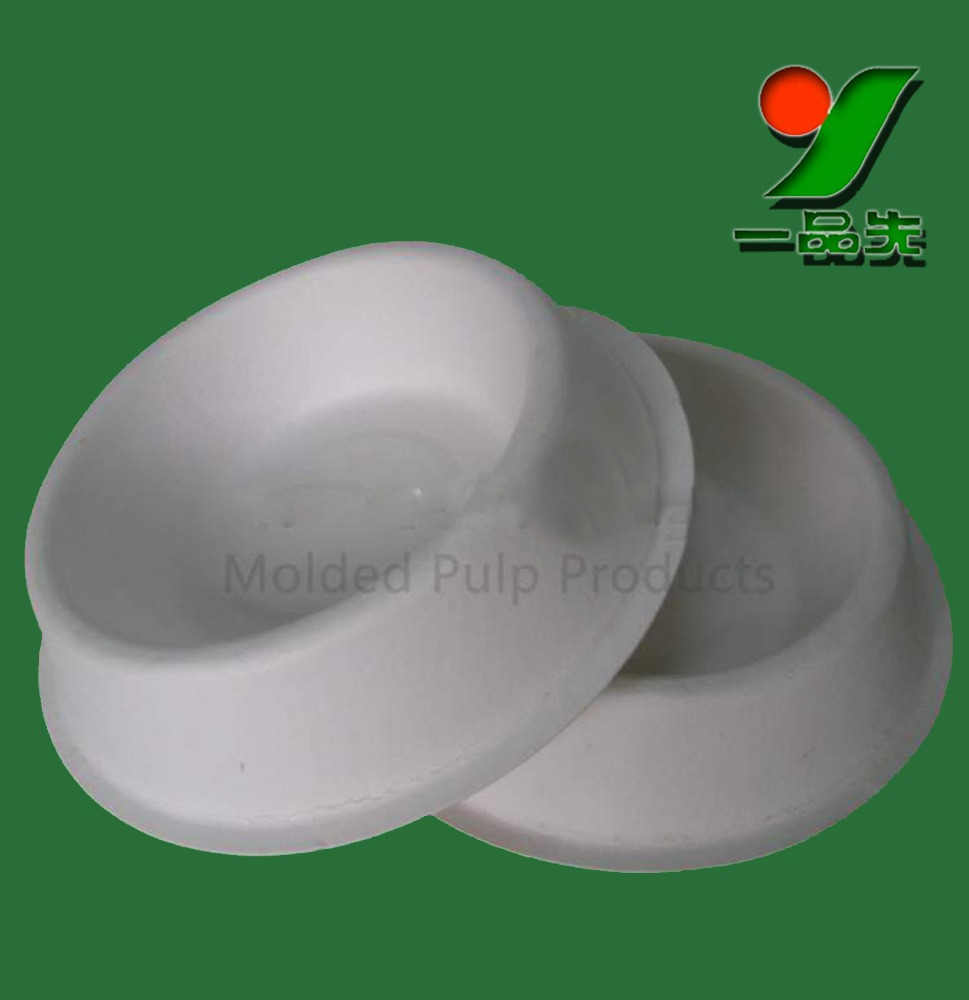 Wholesale customized biodegradable disposable bagasse molded pulp pet travel bowl / dog bowl