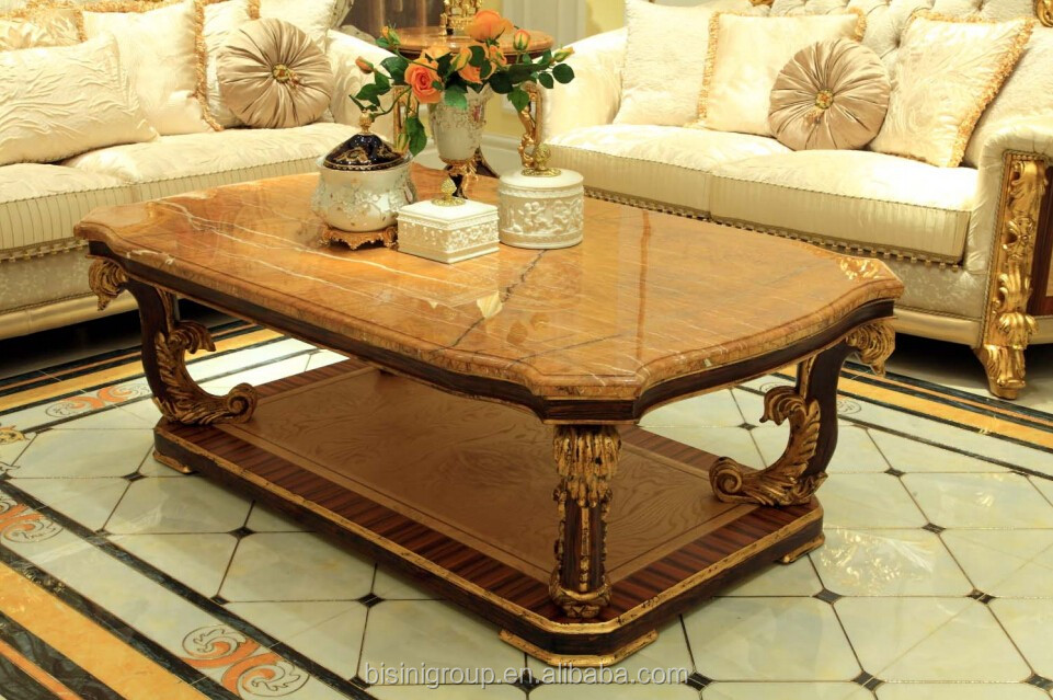Bisini Arabic Style Wooden Living Room Furniture Design Fancy Tea Table  Coffee Table   BF07  Part 51
