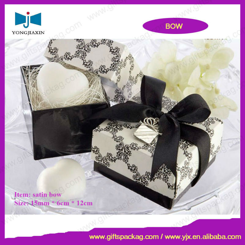 craft ribbon bow for perfume boxes