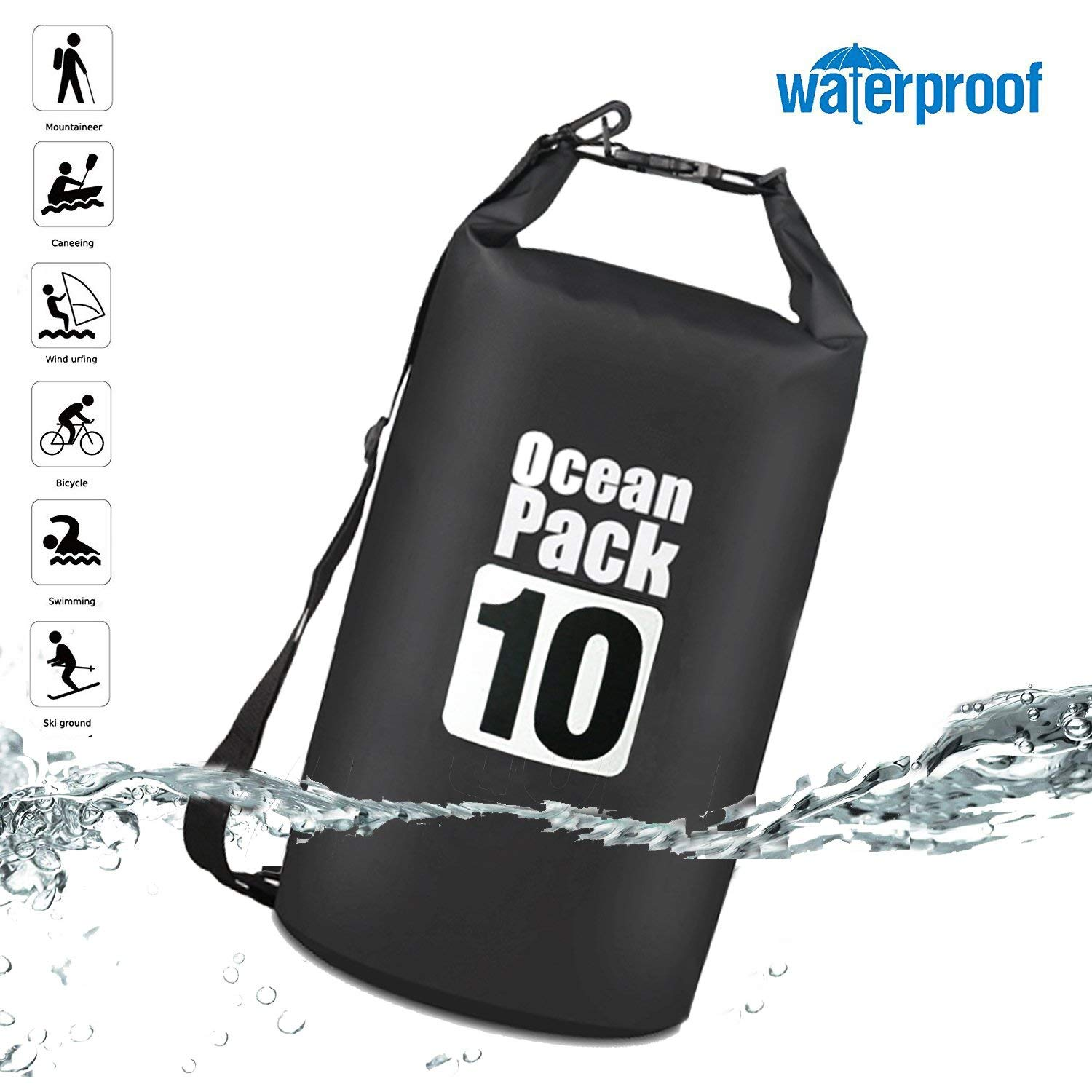 AOAKY Waterproof Dry Bag -Roll Top Dry Sack-Floating Bags for Boating, Kayaking, Rafting, Canoeing, Swimming, Fishing, Hiking, Camping, Snowboarding and Backpacking