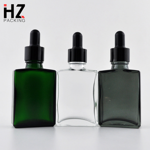 Square matte perfume 50 ml clear glass bottle