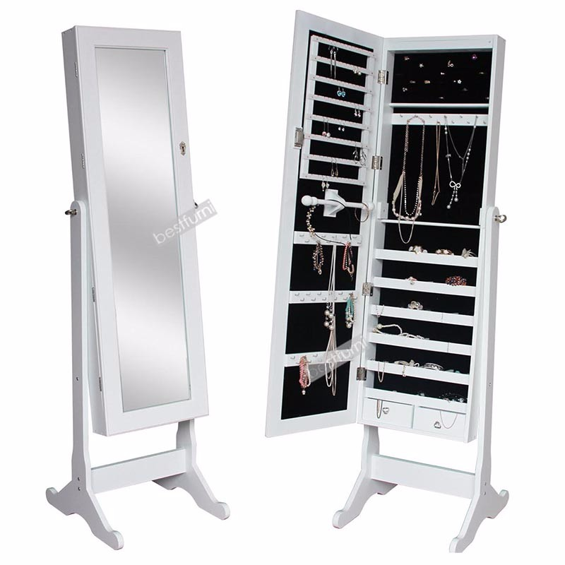 White Cheap Standing Mirror Jewelry Armoire, White Cheap Standing Mirror  Jewelry Armoire Suppliers And Manufacturers At Alibaba.com