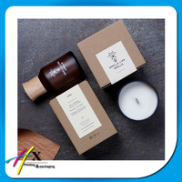 alibaba china 2016 customized cheapest simple kraft paper packaging box for candle/oil
