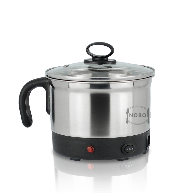 Multifunction mini portable stainless steel steamer cooker induction electric steamer pot with glass lids