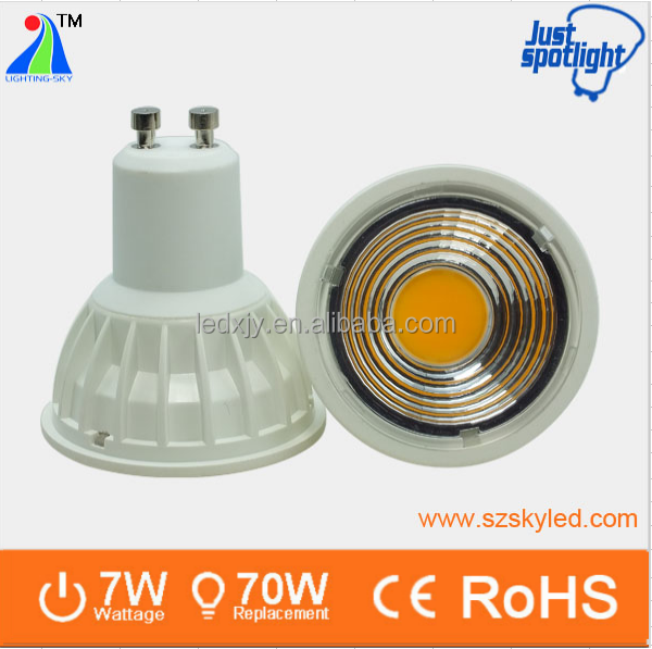 3 years warranty led bulb light gu10 base 7w led spot lights gu10 dimmable