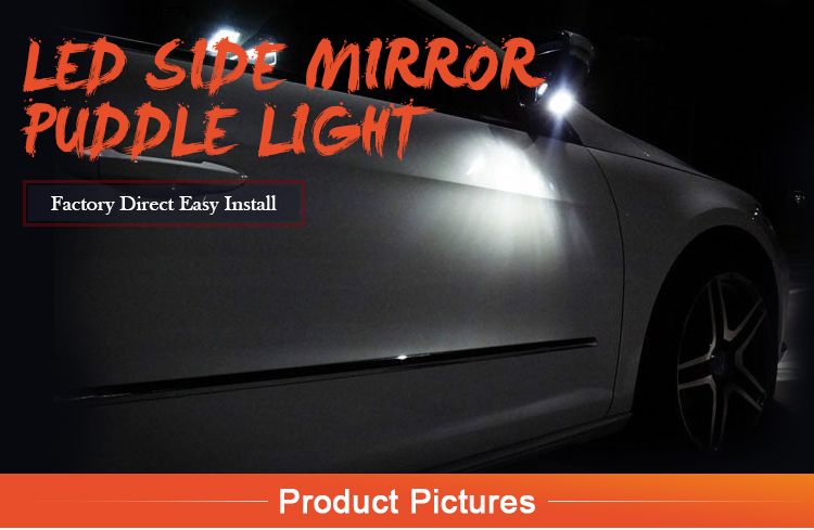 LED under side mirror puddle lights for Lincoln MKX MKT MKS MKZ under side mirror lamps