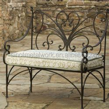 Decorative Metal Garden Armchair With Two Seats Wrought Iron Bedroom