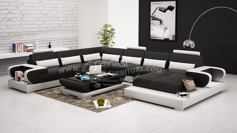 2015 Corner Sofa American Leather Sofa Design European Style