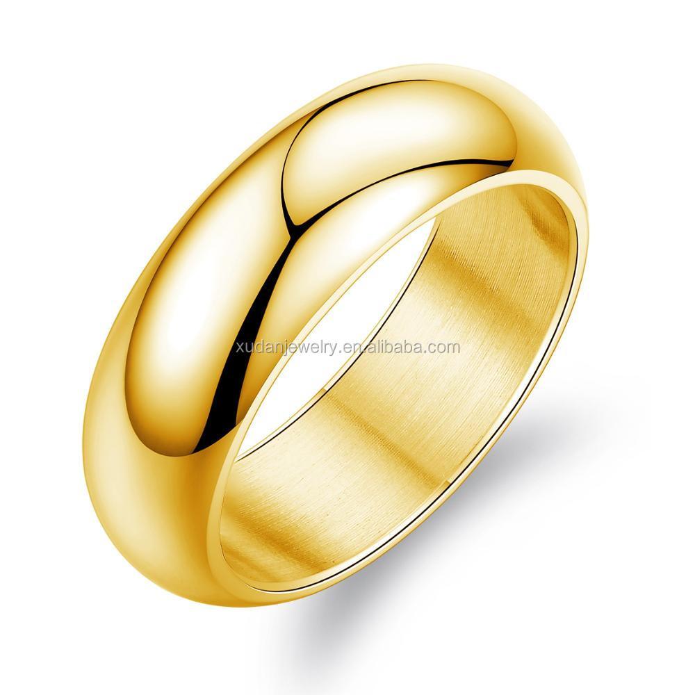 Latest Fashion Gold Finger Plain Ring Designs For Women Wholesale ...