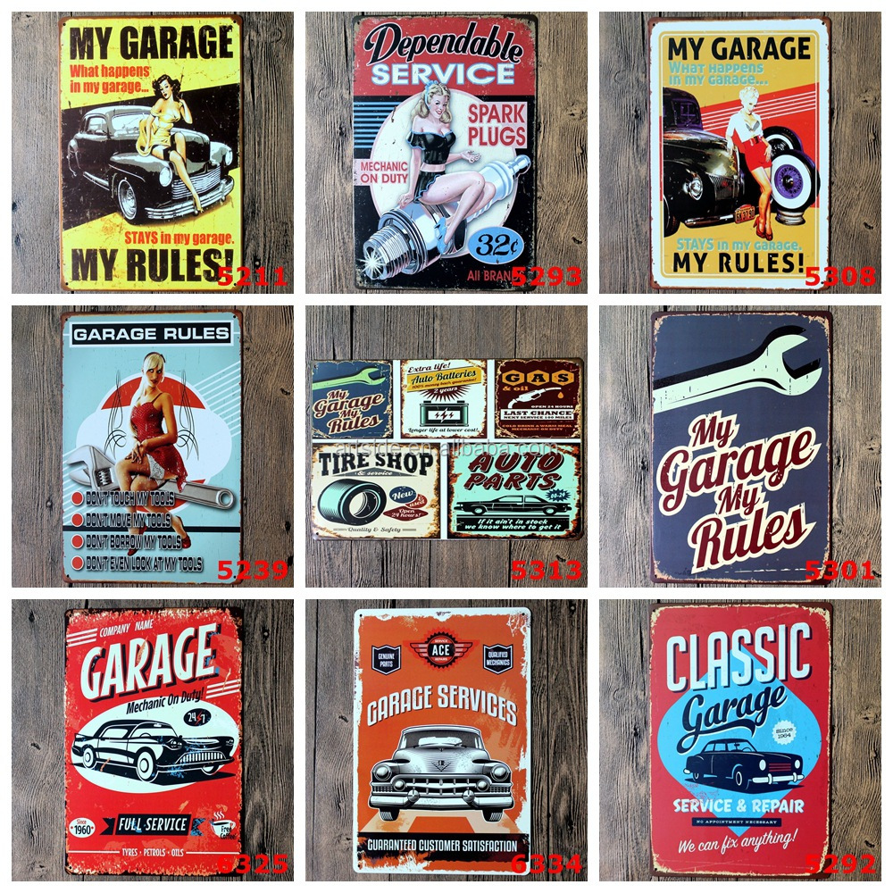 Wholesale Decorative Vintage Printing Custom Metal Plate Tin Metal Signs