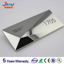 Hotel door number plates and letters durable stainless steel plate