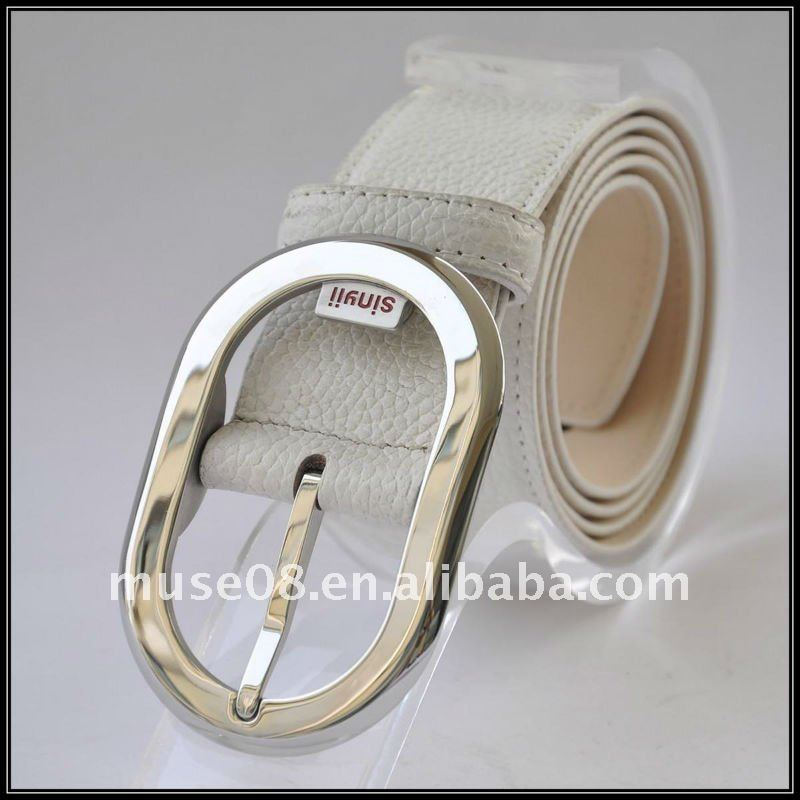 BL800303 White fashion colored golf belts