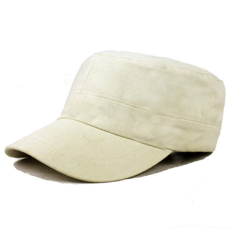 fd7ea21d7 Buy Mens Military Hats Flat Cap Classic Rivet Cotton Knitted Fabrics ...