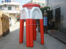 New high quality air sealed big inflatable basketball stands for water sports games