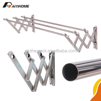 Stainless Steel Outdoor Clothes Drying Racks Push Pull