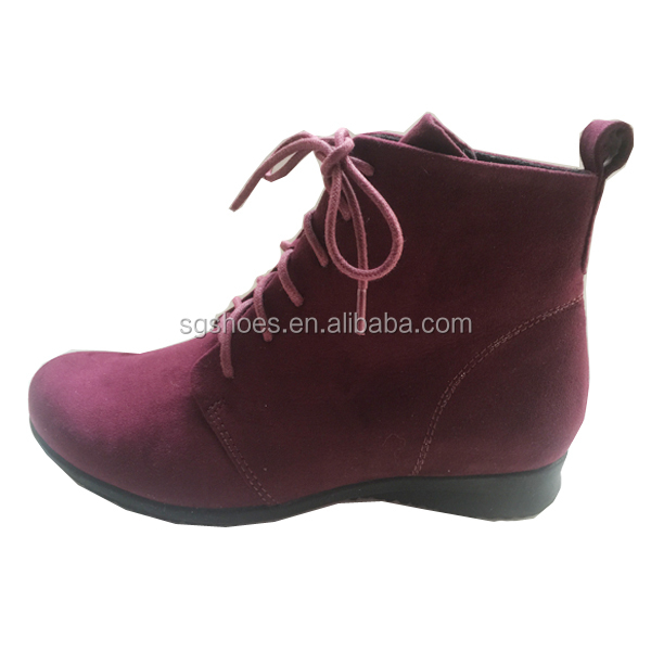 7511544fda9a Winter New Product Women Ankle Boots Lace Up Boot Flat Woman Boot ...