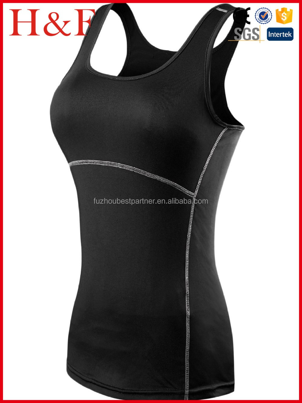 Women Compression Under Base Sports Wear Yoga Tank Tops