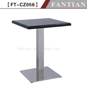 hot sale newest design restaurant granite top dining table design with folding table base