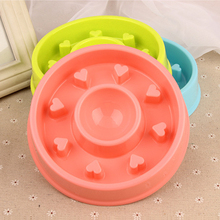 Interactive Plastic dog slow feeder bowl