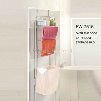 Over Door Hanging Laundry Centre / Hamper/laundry Sorter With Towel Rack