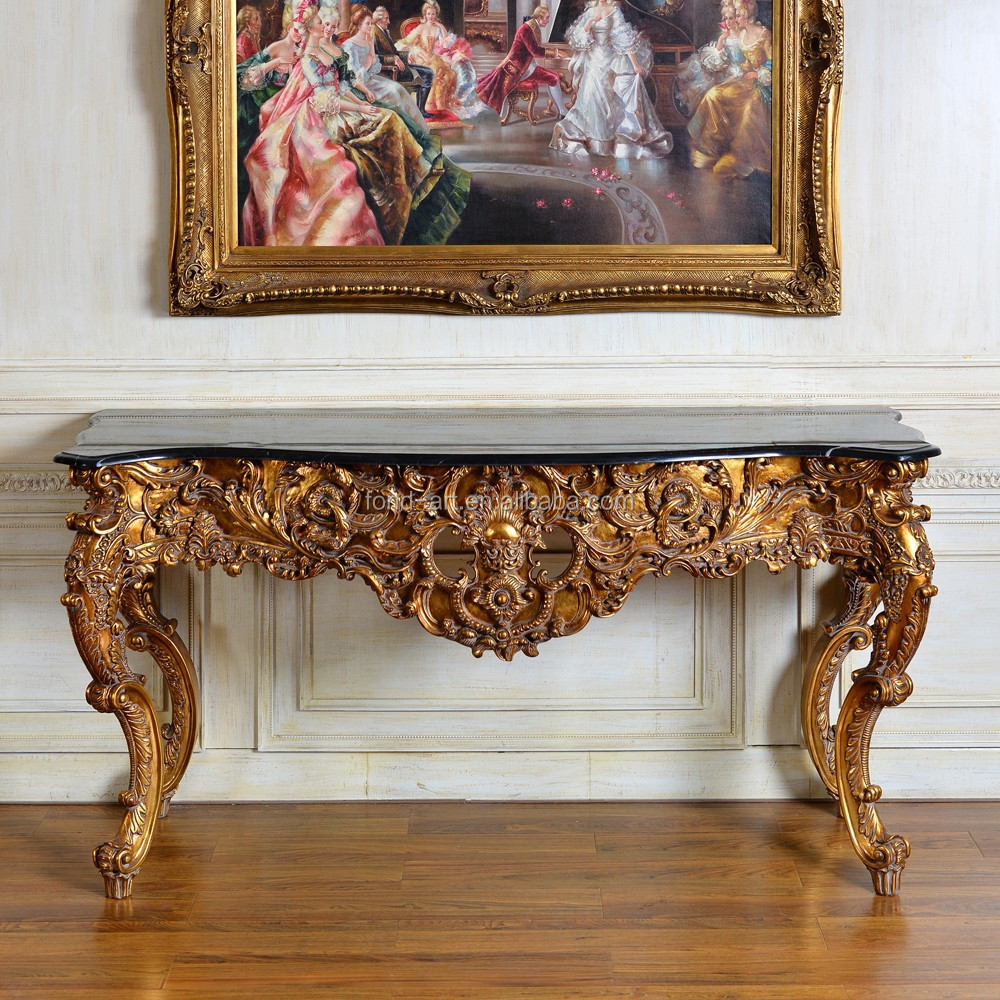 Gold Leaf Antique Marble Console Table, Gold Leaf Antique Marble Console  Table Suppliers And Manufacturers At Alibaba.com