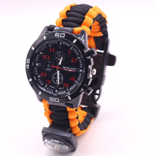 Outdoor Multifunctional Survival 550 Paracord Bracelet Watch