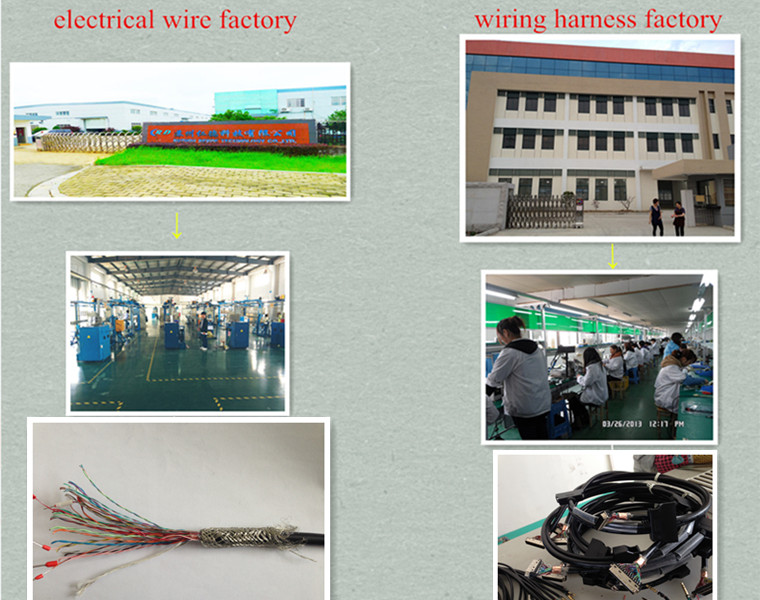 molex 10 pin wire harness multi core cable for medical machine