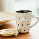 High quality promotional gift dot design two tone ceramic stoneware mug