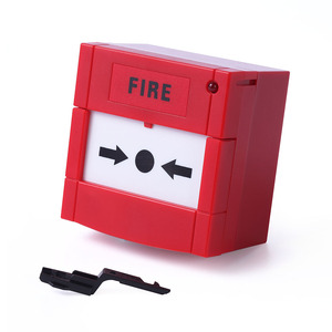 Fire alarm system resettable manual call point for emergency door release