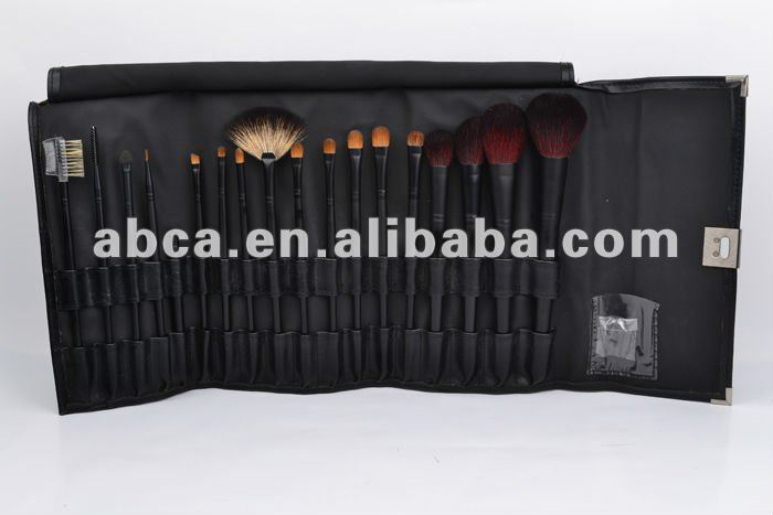 Factory makeup brushes with natural Goat hair and synthetic hair poucn