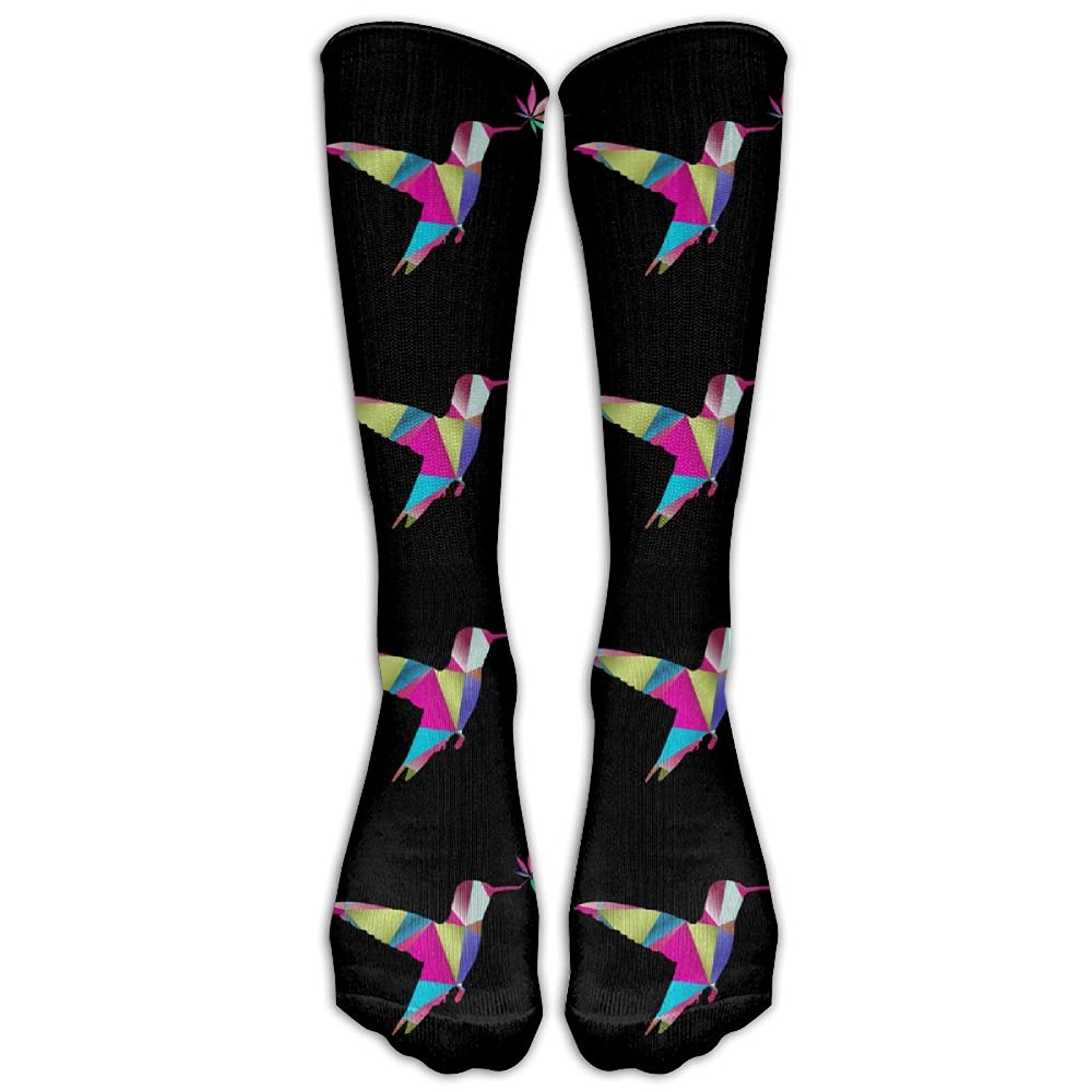 14e41fc04b0 Get Quotations · Hummingbird Weed Prismatic Triangle Women s Men s Socks  Travel Long Socks High Socks Tube Socks Fancy Design