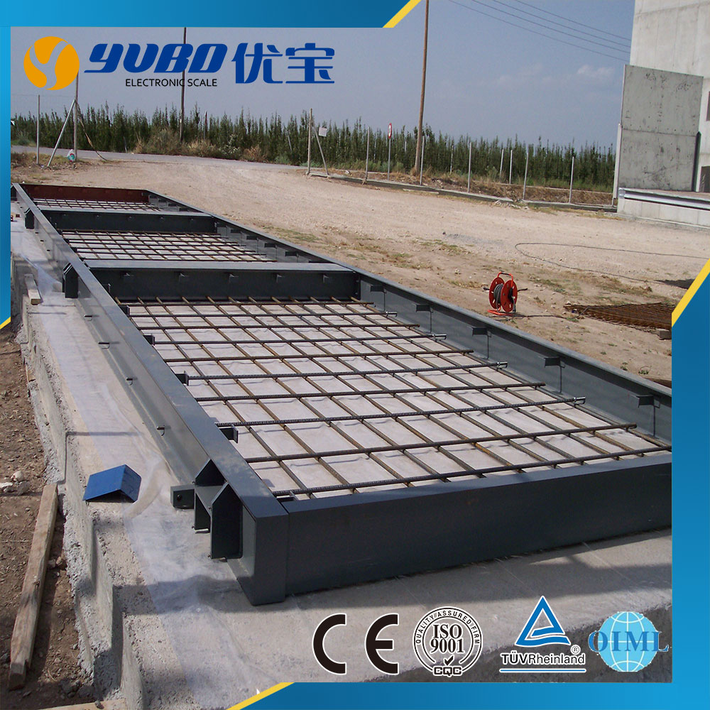 Steel frame and concrete pouring concrete weighbridge truck scale with Keli / Zemic loadcells