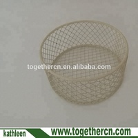 Christmas Small Round Gift Wire Baskets MINI Metal mesh Basket