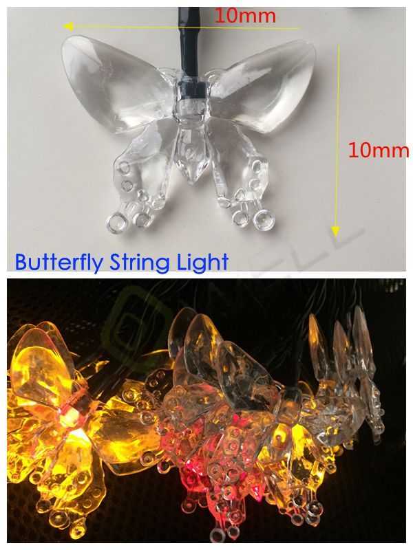 best selling products 2018 led crystal butterfly string light with 30 led