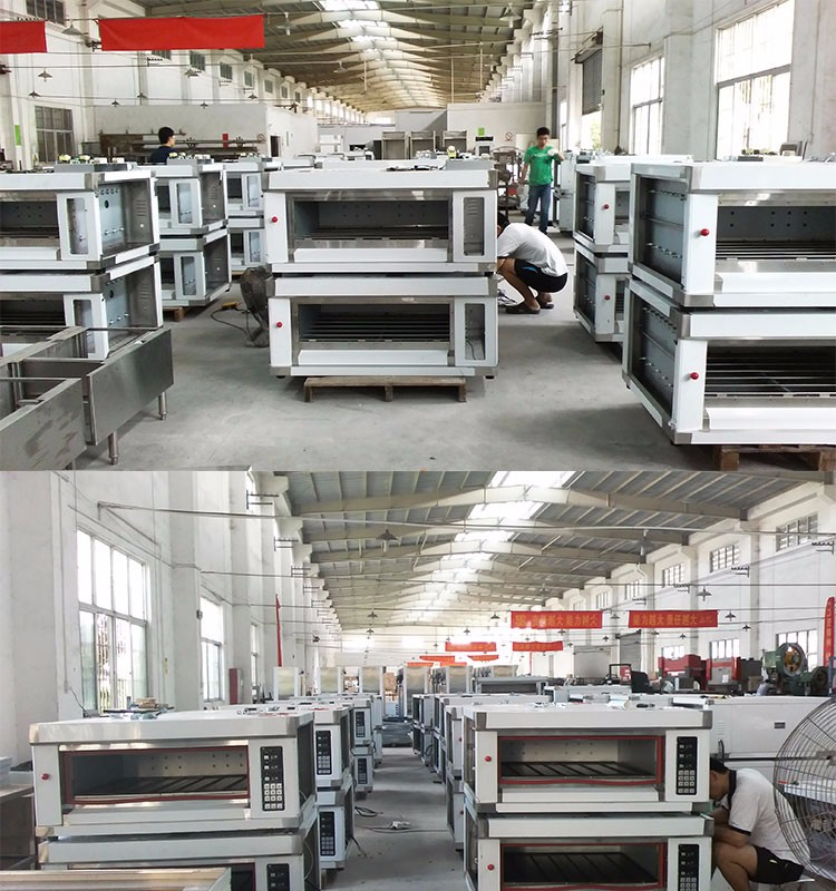 Shentop KST-24A intelligent bakery machine 2 deck 4trays oven electric deck oven bakery equipment