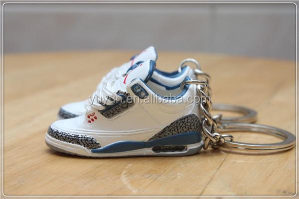 jordan 3d keychain shoe