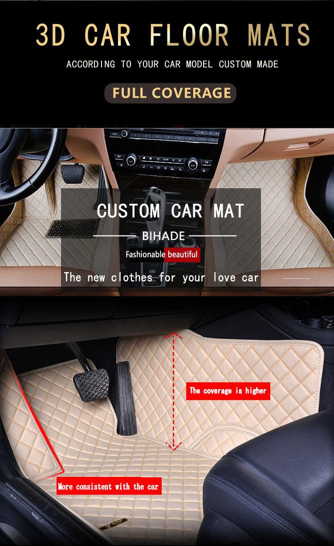 Mcow Car Accessories RHD Car Foot Mat, Cheap 3D 5D 7D Car Floor Mats